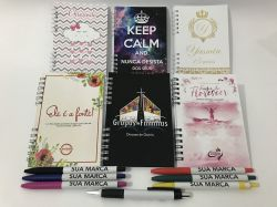 Kit 1 Mini Agenda + 1 Caneta
