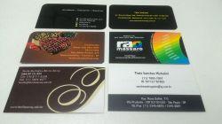 Cartão de Visita Papel Couche 300g - Laminação Fosca e Verniz Localizado